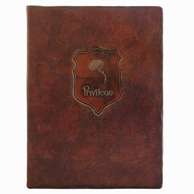 Папка кожаная для документов Рortfolio brown leather