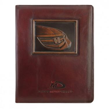 Папка на подпись кожаная Лого brown leather