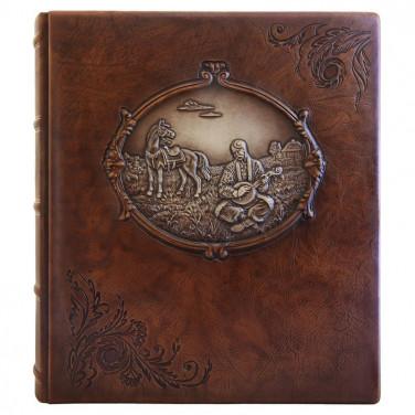 Фотоальбом у шкіряній палітурці Козак Мамай brown leather