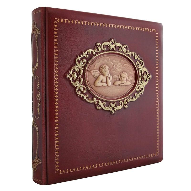 Кожаный фотоальбом Ангелы Рафаэля brown leather
