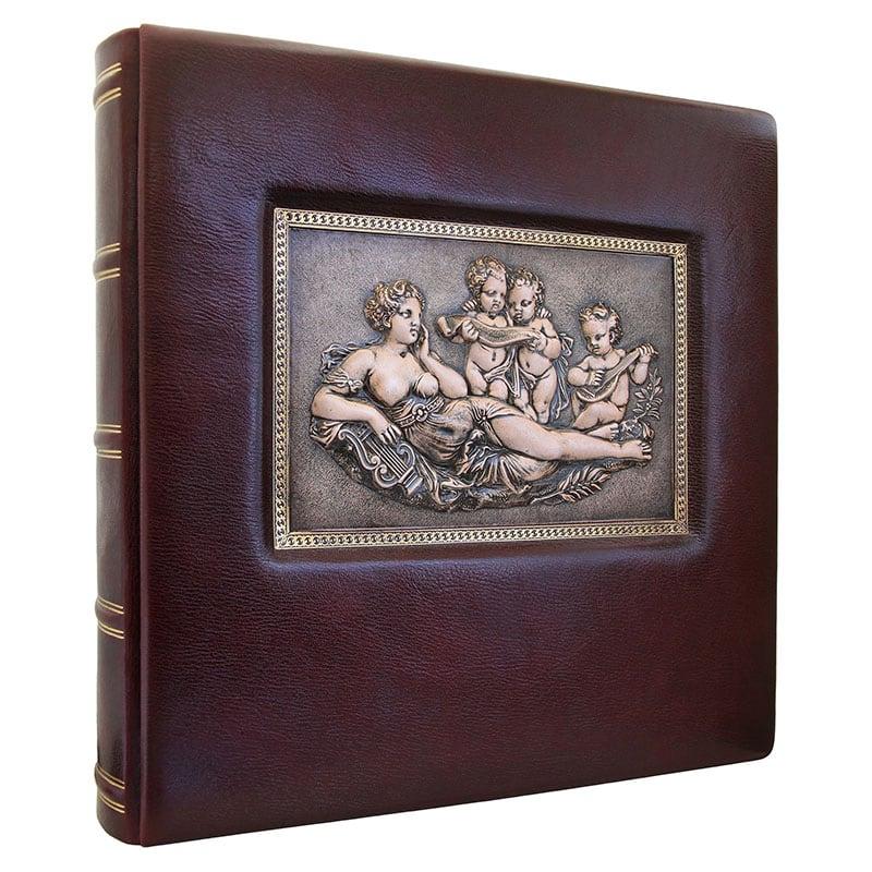 Шкіряний фотоальбом Гармонія brown leather