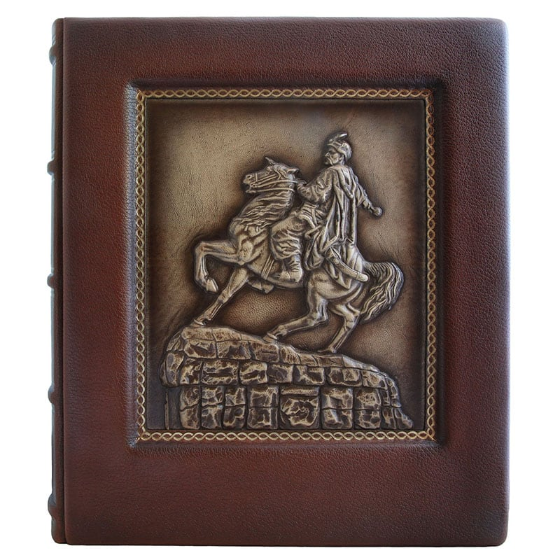 Фотоальбом в кожаной обложке Богдан Хмельницкий brown leather