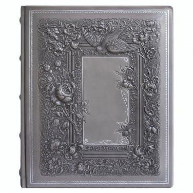 Фотоальбом в кожаной обложке Весна gray leather