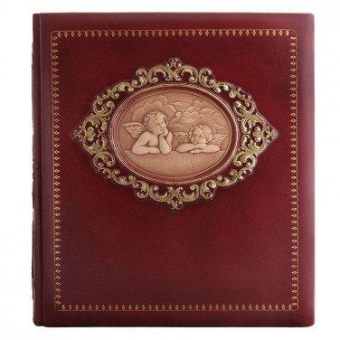 Шкіряний фотоальбом Ангели Рафаеля brown leather