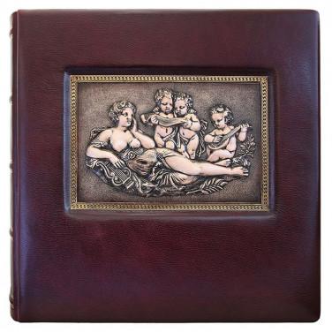 Кожаный фотоальбом Гармония brown leather