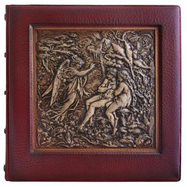 Кожаный фотоальбом Эдем brown leather