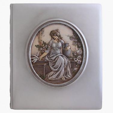Фотоальбом в кожаной обложке Богиня Астара gray leather