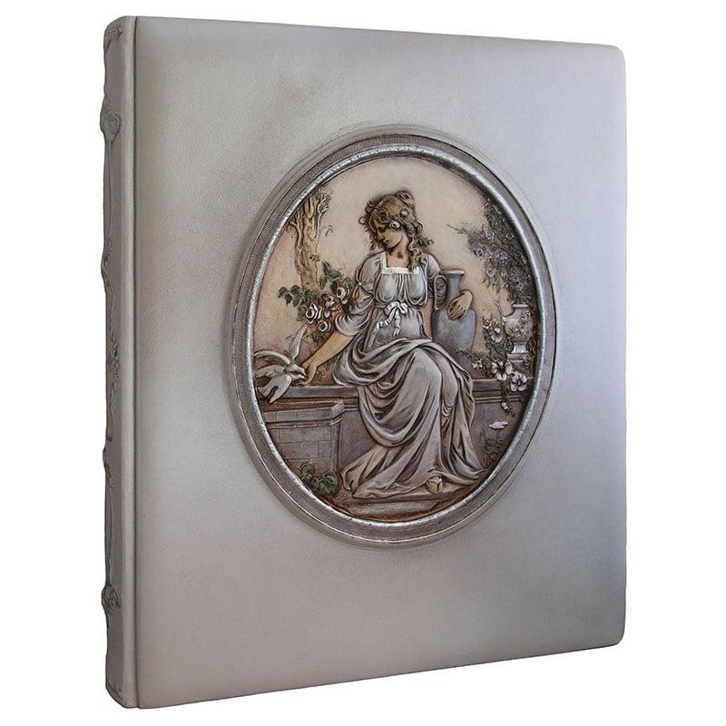 Фотоальбом у шкіряній обкладинці Богиня Астара gray leather