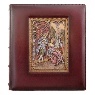 Фотоальбом у шкіряній палітурці Візаві brown leather