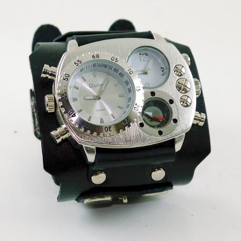 Годинник чоловічий з шкіряним браслетом Military Style