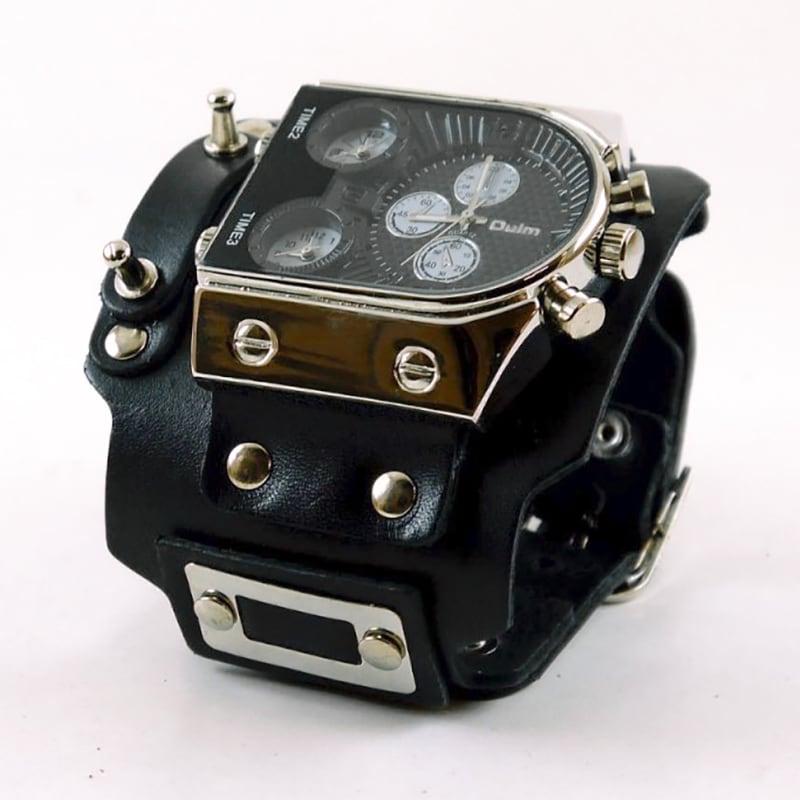Мужские часы с кожаным ремнем Trinity Style