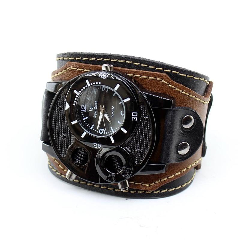 Часы мужские с кожаным ремешком Steampunk