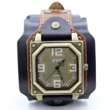 Часы мужские с кожаным ремешком Antique