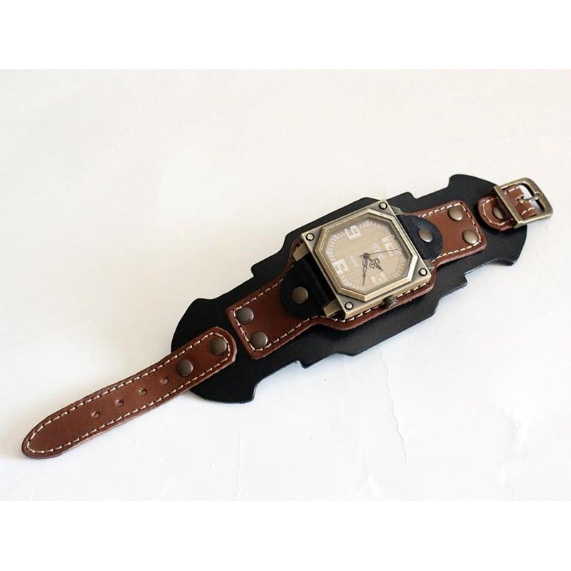 Годинники чоловічі з шкіряним ремінцем Antique