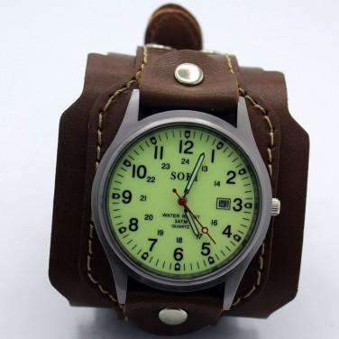 Часы мужские кожаные Swiss Style Green