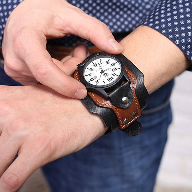 Годинники чоловічі шкіряні Swiss Style