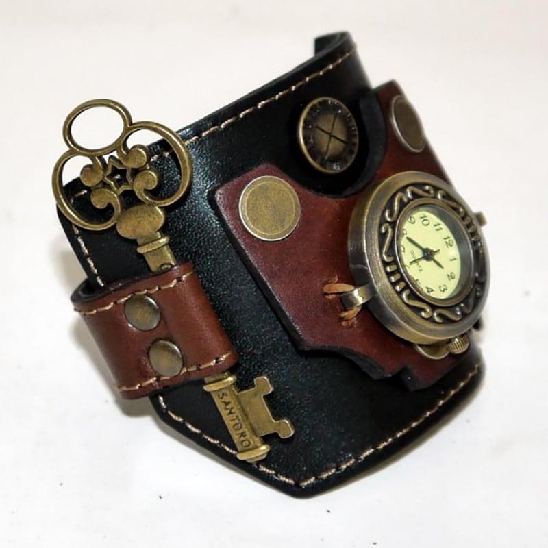 Часы женские с кожаным ремнем Vintage