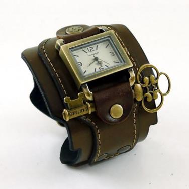 Часы женские с кожаным ремешком Steampunk