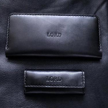 Подарунковий набір аксесуарів для чоловіків Elegant Style Black Leather