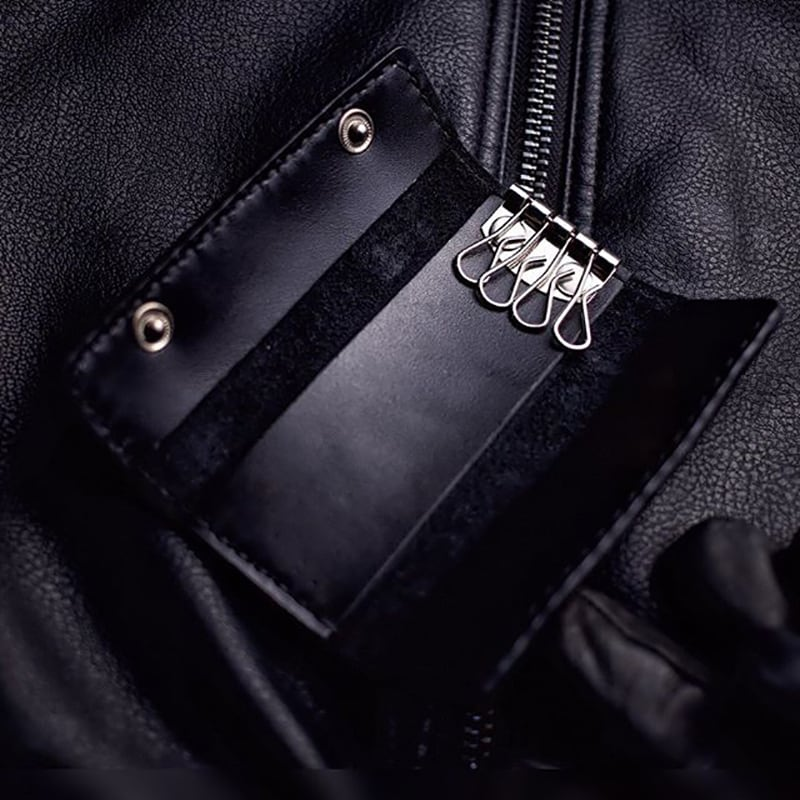 Подарочный набор аксессуаров для мужчин Elegant Style Black Leather