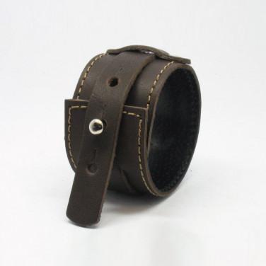 Мужской браслет кожа Military Style black leather