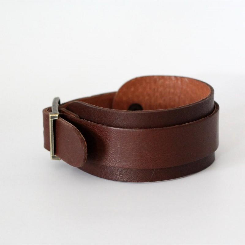 Шкіряна манжета Belt Style brown leather
