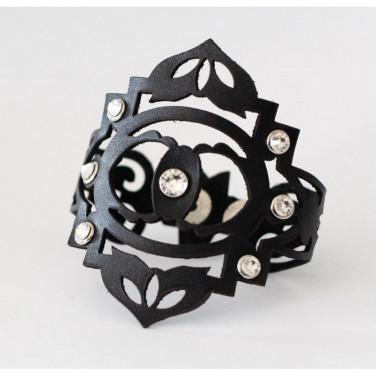 Женский браслет кожа Boho black leather
