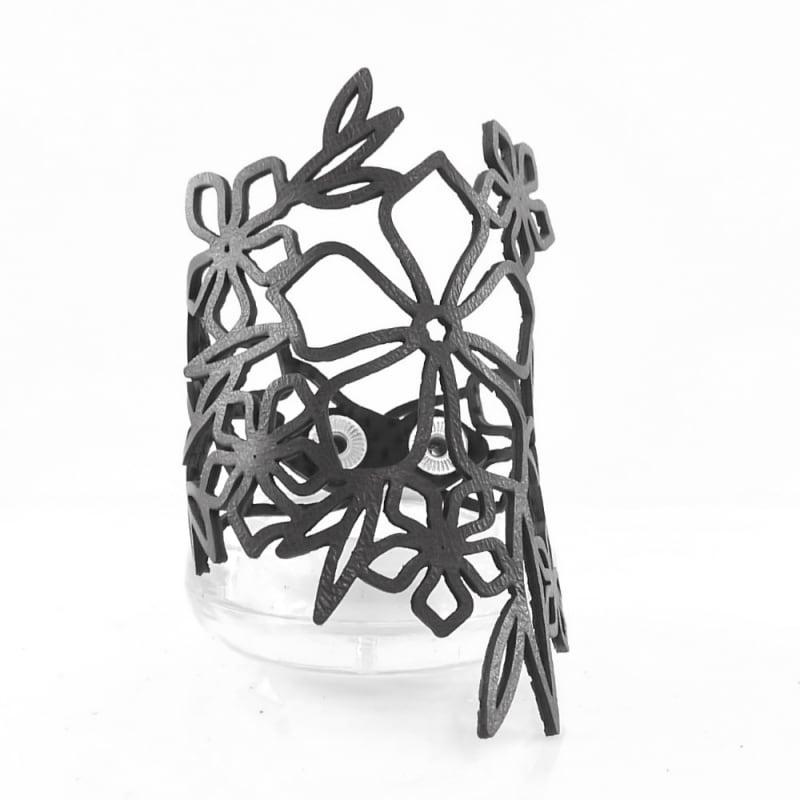 Кожаный браслет Baroque black leather