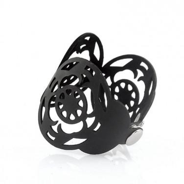 Шкіряний браслет Arabesque black leather