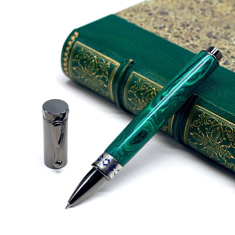 Ручка шариковая Dzen Malachite