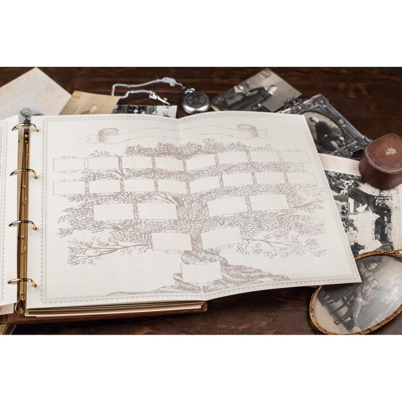 Сімейний літопис гербовий brown leather
