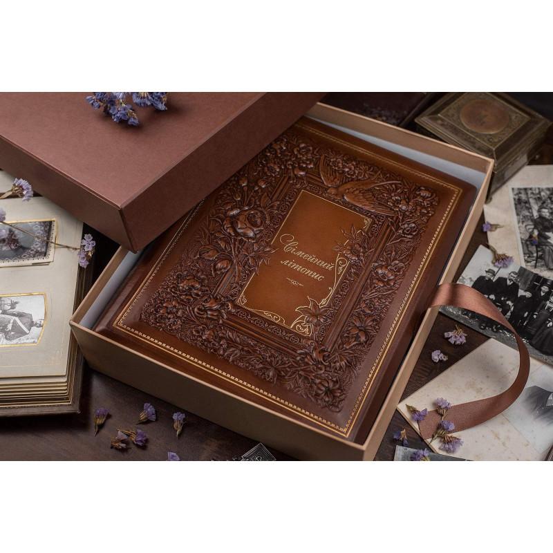 Книга родословная Сімейний Літопис brown leather