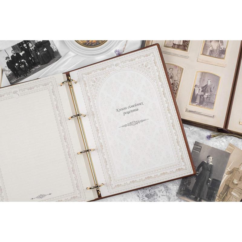 Сімейний літопис Геральдичні Грифони Brown leather