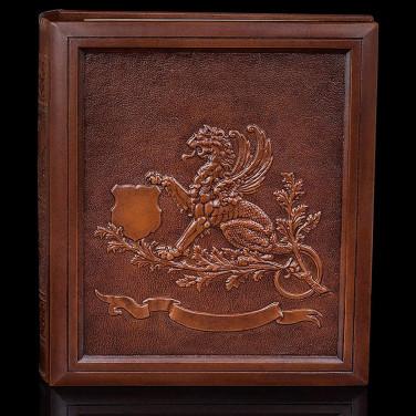 Родословная книга Геральдичний Грифон brown leather