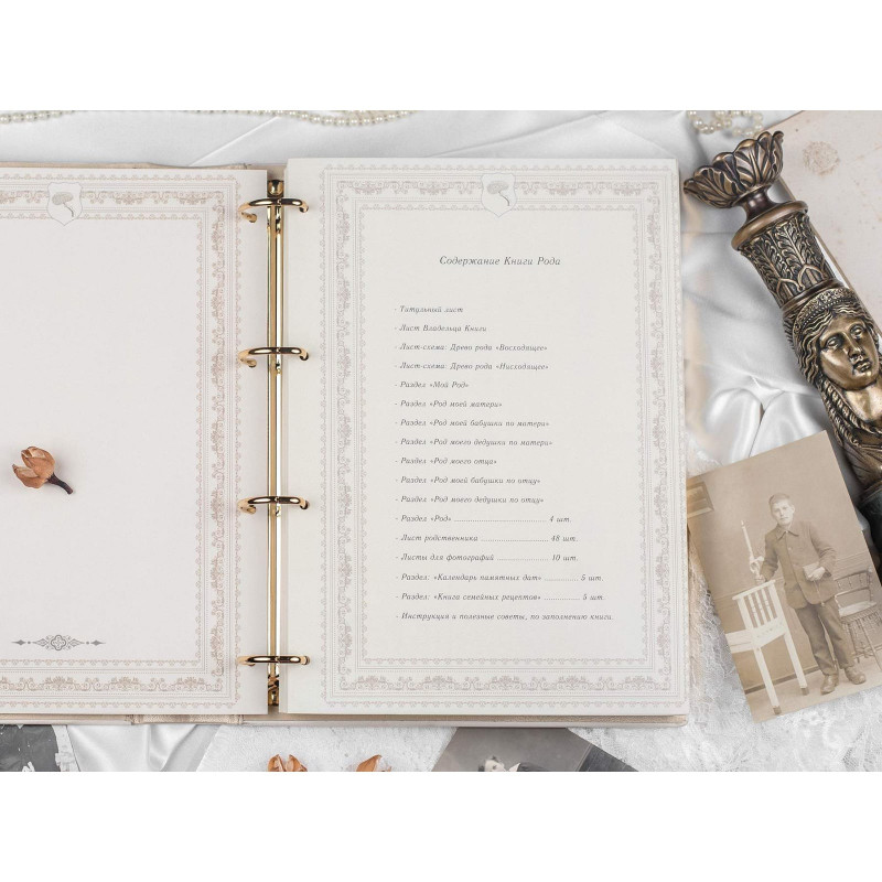 Родословная книга Геральдический Щит brown leather
